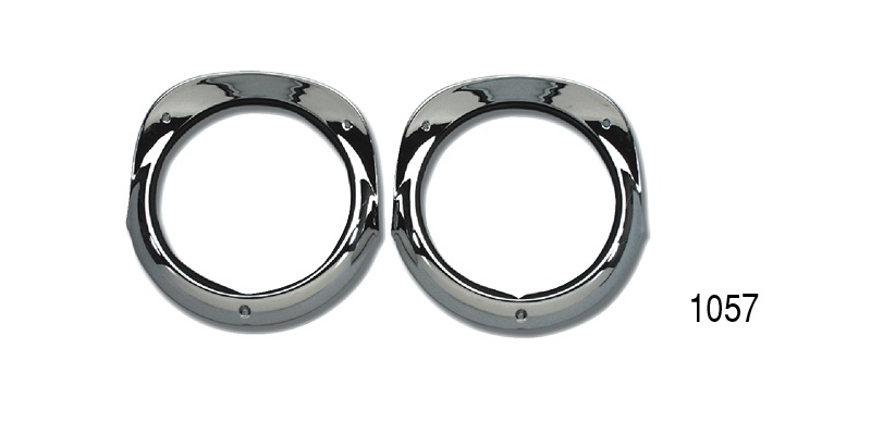 Danchuk 1956 Chevy Headlight Bezels w/ Gaskets and Hardware